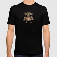 The Green Parrot MEDIUM Black Mens Fitted Tee