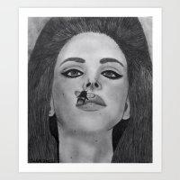 lana del rey Art Prints featuring Lana  by Char Stefanski
