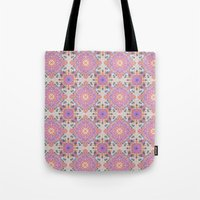 moroccan Tote Bags featuring Faded Moroccan by k_c_s