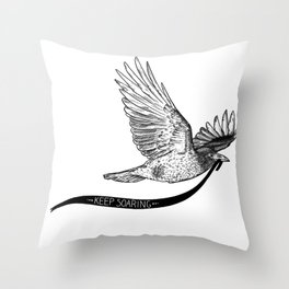 Keep Soaring Throw Pillow