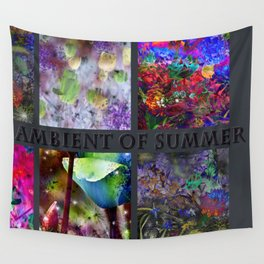 FLORAL AMBIENT of SUMMER Wall Tapestry