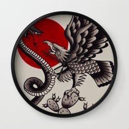 Águila nopal serpiente Wall Clock