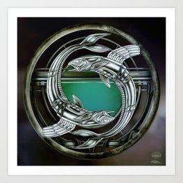 """""""Astrological Mechanism - Pisces"""" Art Print"""
