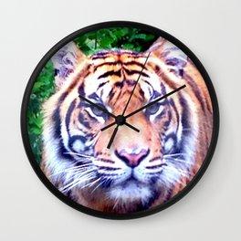 Tiger Tiger Burning Bright Wall Clock