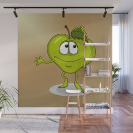 Happy apple Wall Mural