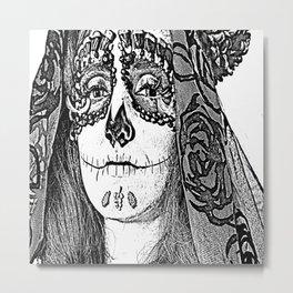 Sugar Skull Drawing Metal Print