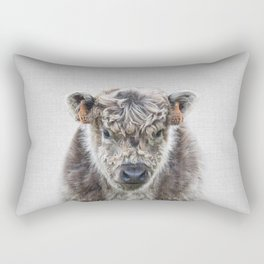 Fluffy Cow - Colorful Rectangular Pillow
