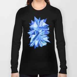Sapphire Watercolor Facets Long Sleeve T-shirt