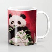 pandas Mugs featuring Pandas by J ō v