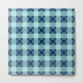 Blue plaid Metal Print