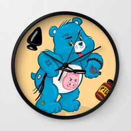 Dirty Bear Wall Clock