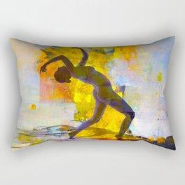 Dance among the colors Rectangular Pillow