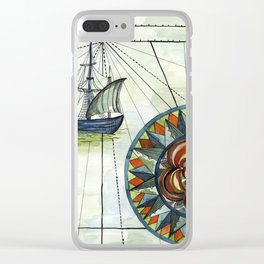 On A Voyage Clear iPhone Case