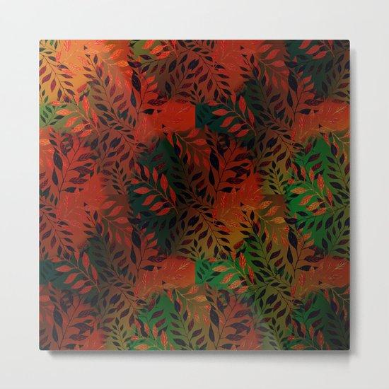 Abstract Leaf Arrangement (African Colors) Metal Print