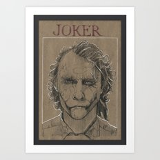 Joker by Heath Ledger (DRAWLLOWEEN 7/31) Art Print