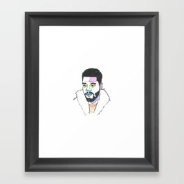 The Rapper-a-day Project | Day 23: KidCudi Framed Art Print