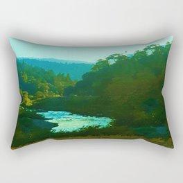Runs To The Sea Rectangular Pillow