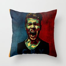 cry poster  Throw Pillow