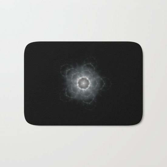 Space Flower Fractal Bath Mat