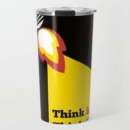 Lab No. 4 - Think Big Dhirubhai Ambani Reliance Corporate Startup Quotes Poster Travel Mug