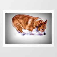chuck Art Prints featuring Chuck by Cathy Donohoue
