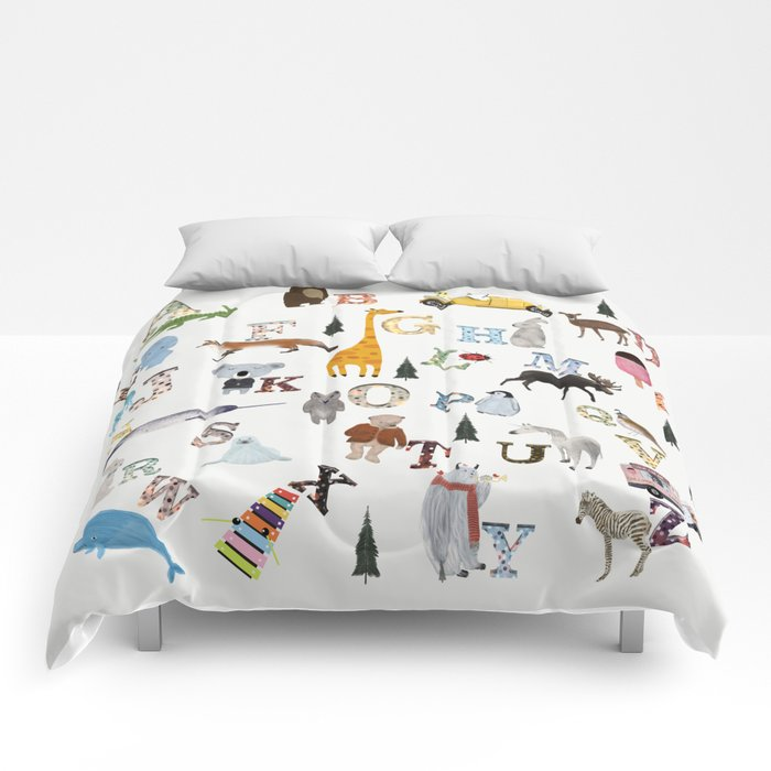 little nature alphabet Comforters