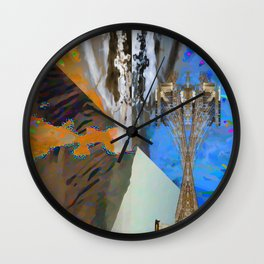 landscape collage #22 Wall Clock