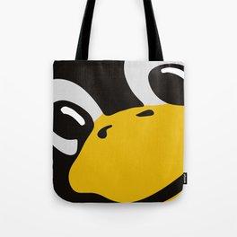 Linux tux Penguin eyes Tote Bag