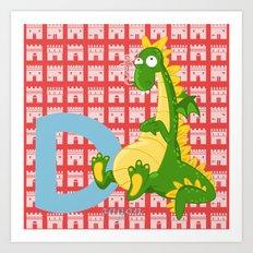 d for dragon Art Print