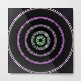 purple with a green core Metal Print
