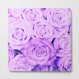 Some people grumble- Floral Ultra Violet Rose Roses Flowers Metal Print