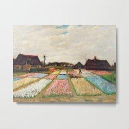 Vincent Van Gogh - Flower Beds in Holland Metal Print