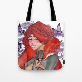 Fox Witch Tote Bag