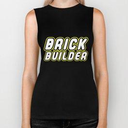 BRICK BUILDER in Brick Font Logo Design by Chillee Wilson Biker Tank