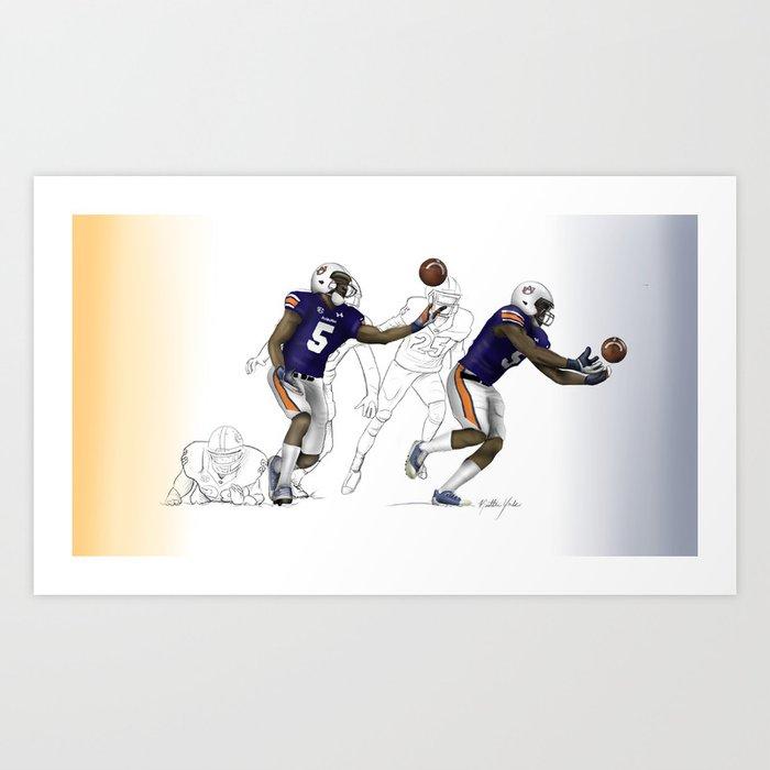 "2013 AU vs. UGA ""Immaculate Deflection"" Art Print"