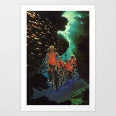 Bike Tour Art Print