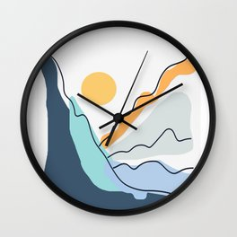 Minimalistic Landscape II Wall Clock