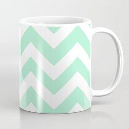 Magic mint - heavenly color - Zigzag Chevron Pattern Coffee Mug