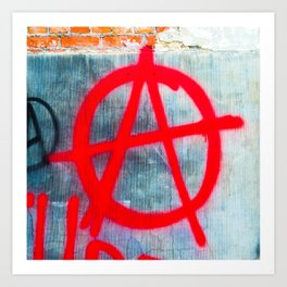 Anarchy Graffiti Art Print