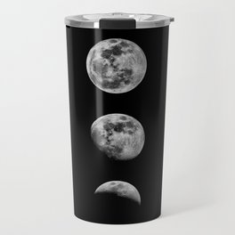 Phases of the Moon print black-white monochrome new lunar eclipse poster home bedroom wall decor Travel Mug