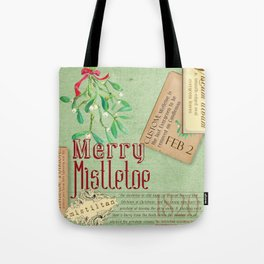 Merry Mistletoe Tote Bag