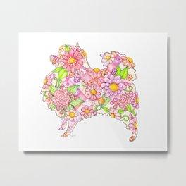 Pink Pomeranian Metal Print