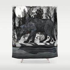 Black Shuck Shower Curtain