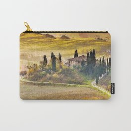 Italian Villa, Rolling Hills and Vineyards of Tuscany, Italy landscape painting Carry-All Pouch