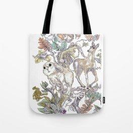 Fauna Inlay Pattern #1 Tote Bag