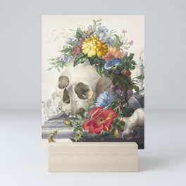 Vanitas Still Life by Herman Henstenburgh - Death and Life Mini Art Print