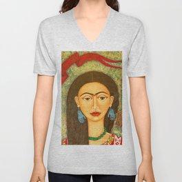 My homage to Frida Unisex V-Neck