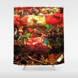 French Candy Shower Curtain