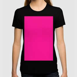 color deep pink T-shirt