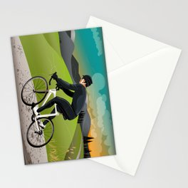 Road Cyclist Stationery Cards